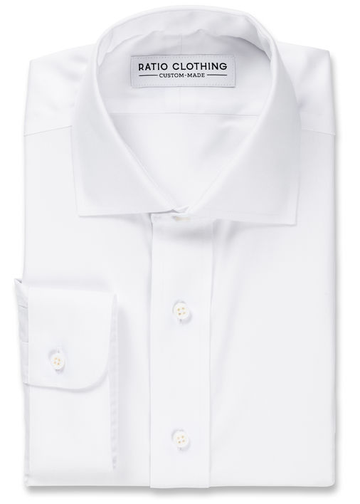 White Non-Iron Classic Pinpoint Product Image 3