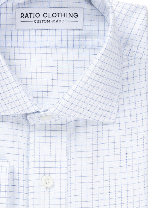Image for Light Blue Windowpane Non-Iron Twill