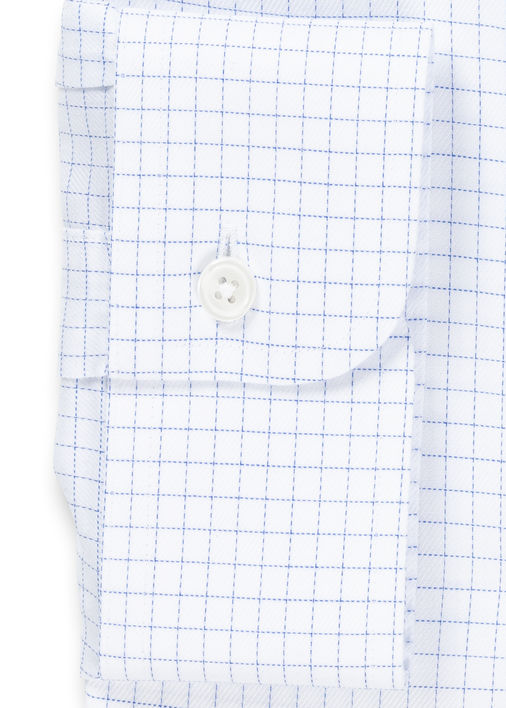 Light Blue Windowpane Non-Iron Twill Product Image 4
