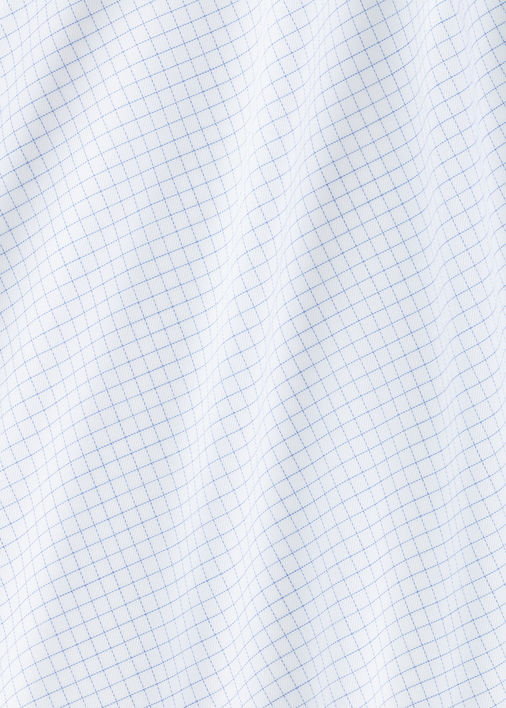 Light Blue Windowpane Non-Iron Twill Product Image 5