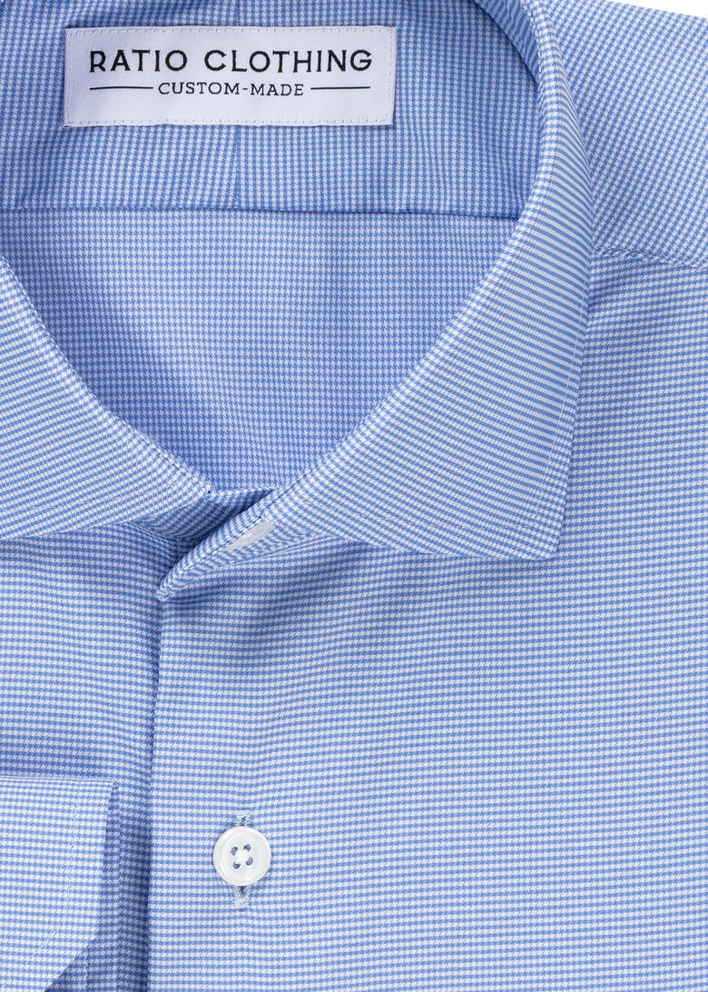 Performance Blue Houndstooth