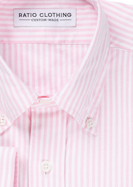 Image for Pink University Stripe Oxford