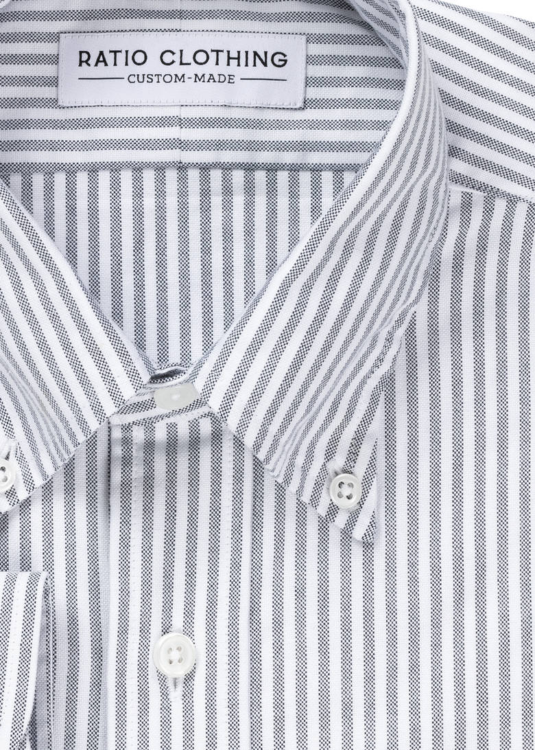 Black University Stripe Oxford Product Image 2