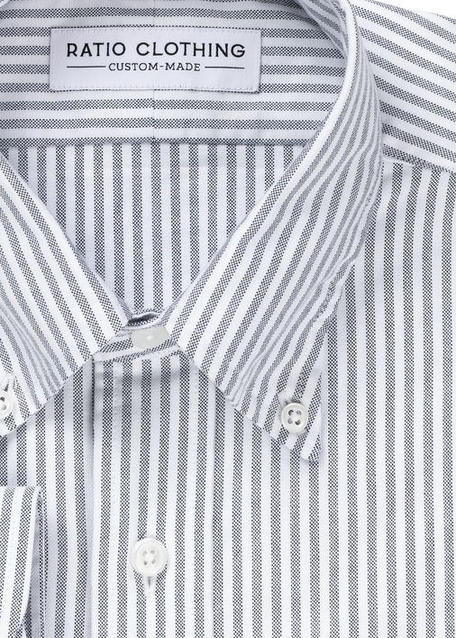 Image for Black University Stripe Oxford
