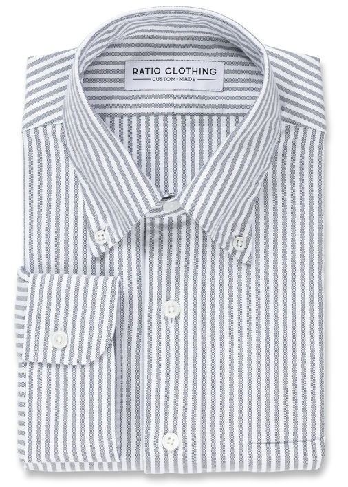 Black University Stripe Oxford Product Image 3