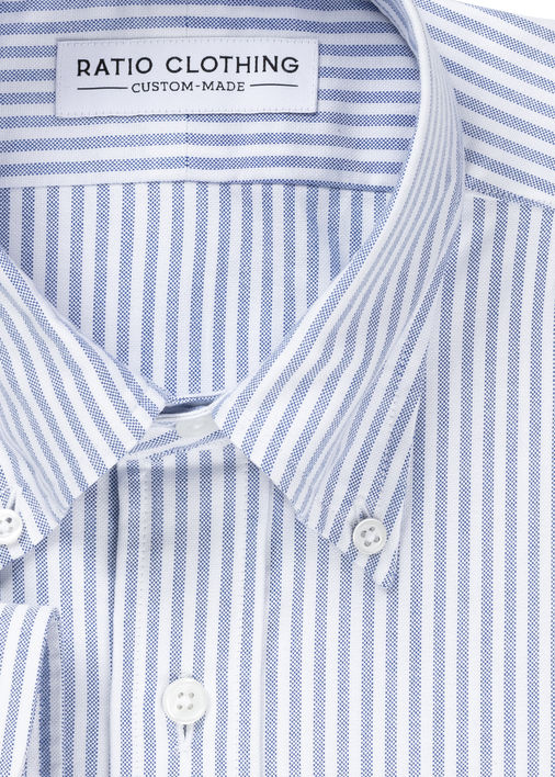 Image for Blue University Stripe Oxford