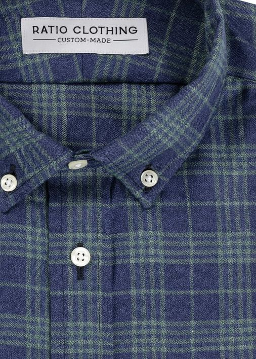 Image for Blue and Emerald Jaspe Flannel