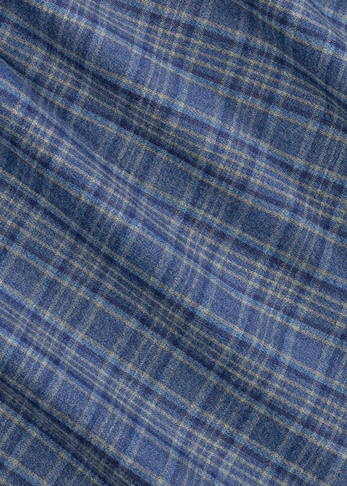 Blue and Tan Jaspe Flannel Product Image 4