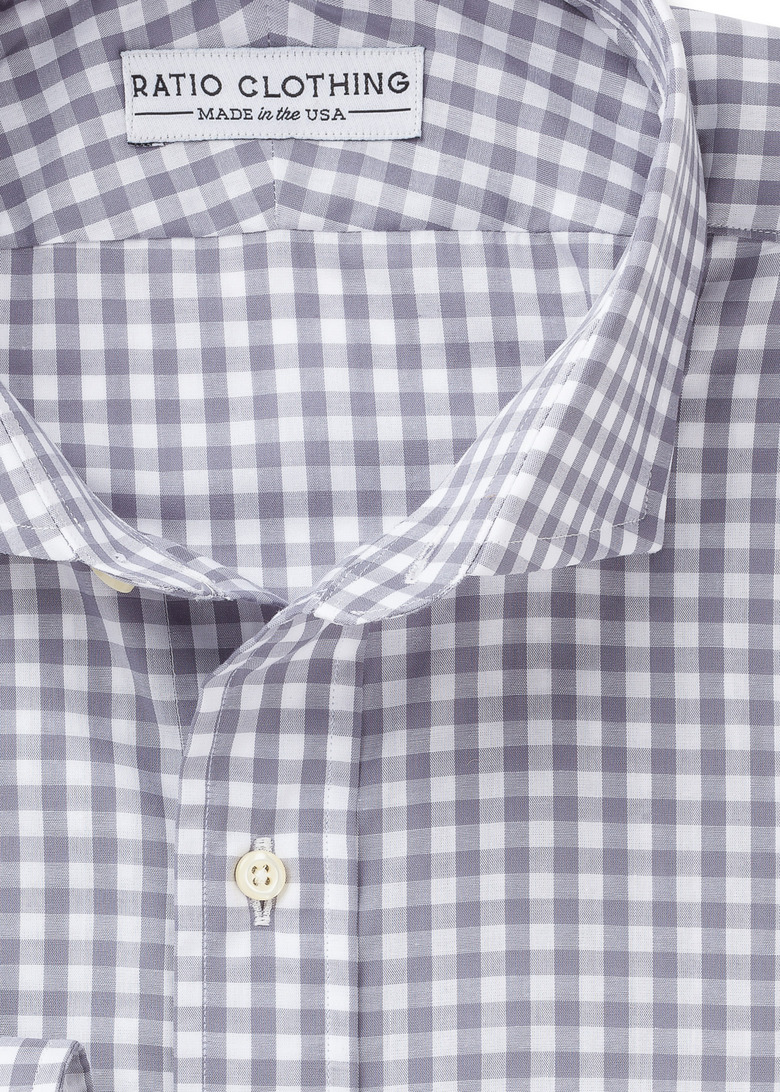 Gray Medium Gingham