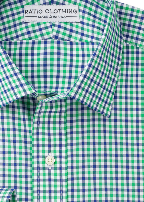 Green and Blue Mini-Gingham