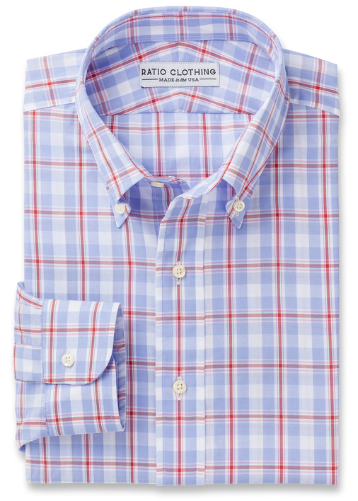 Red Saratoga Tattersall Product Image 3