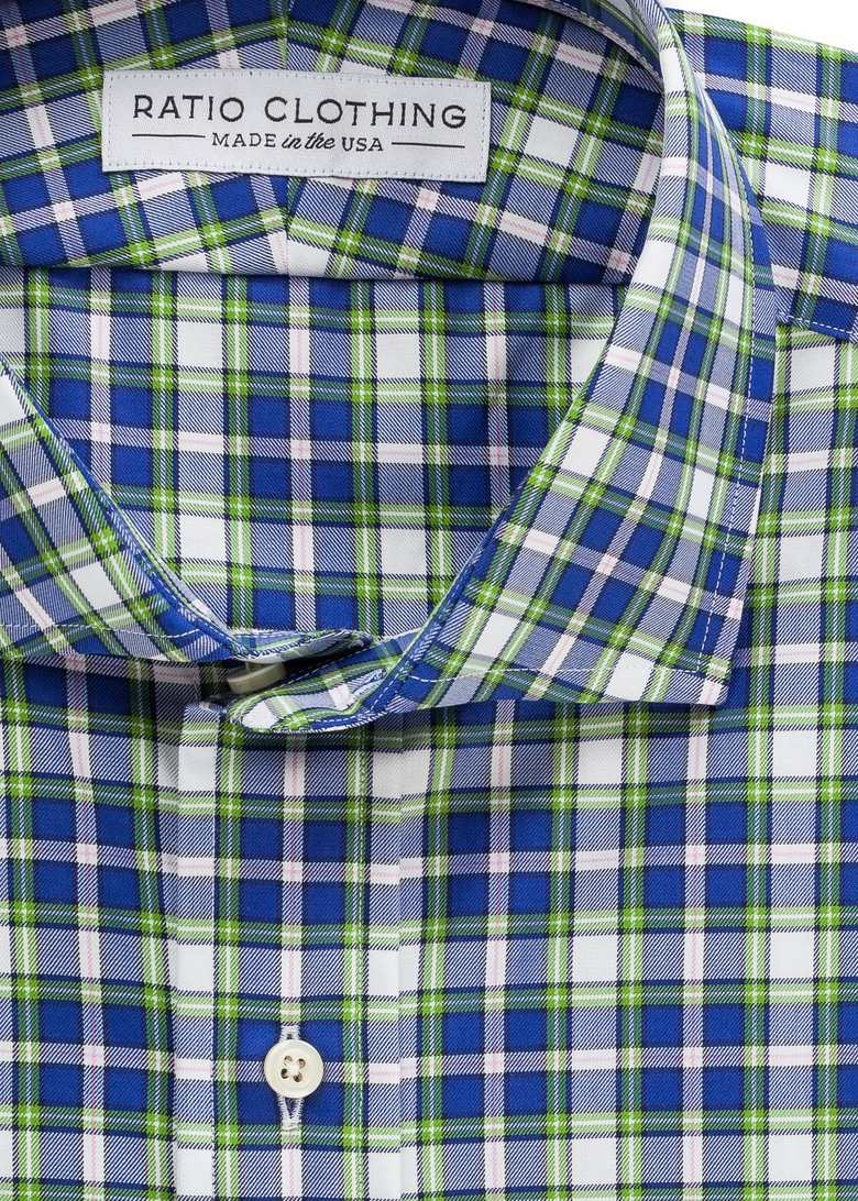 Green and Blue Jackson Plaid