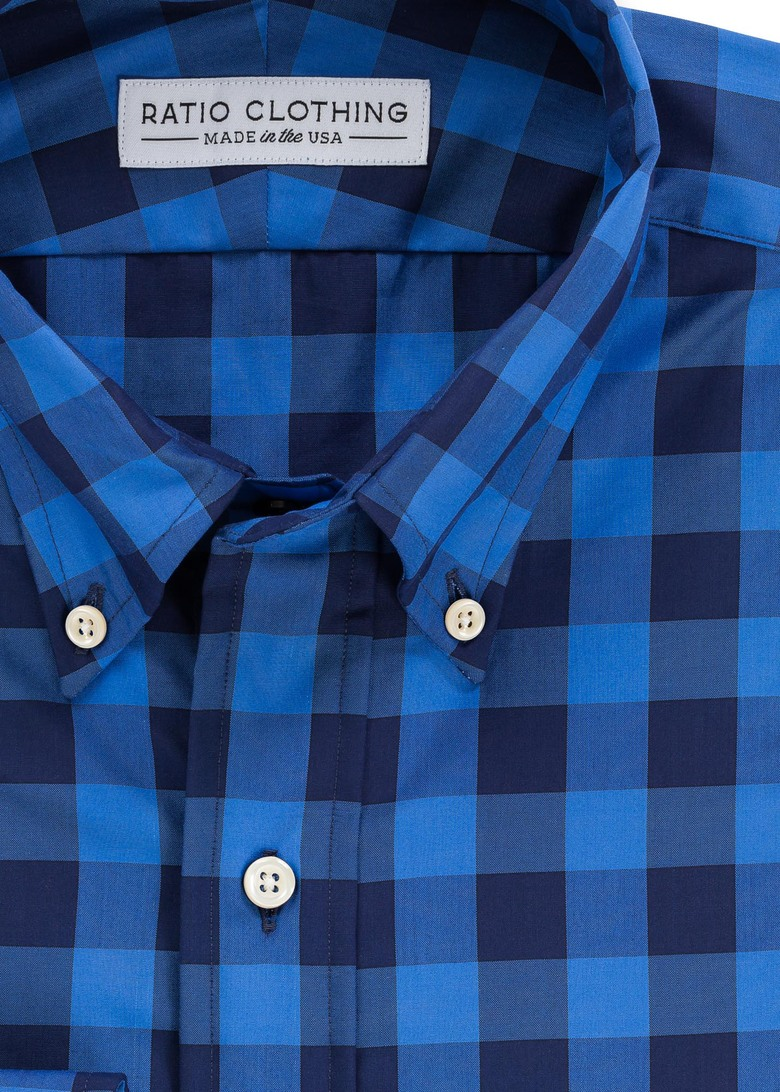 Blue Larimer Gingham