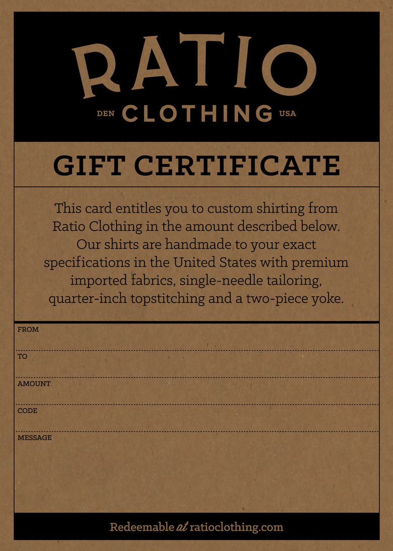 Email gift card ratio clothing email gift card 1betcityfo Gallery