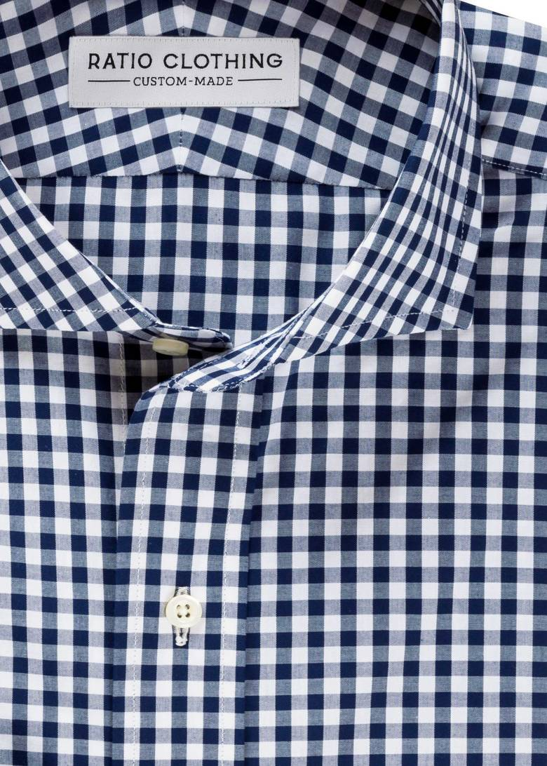 Navy Medium Gingham
