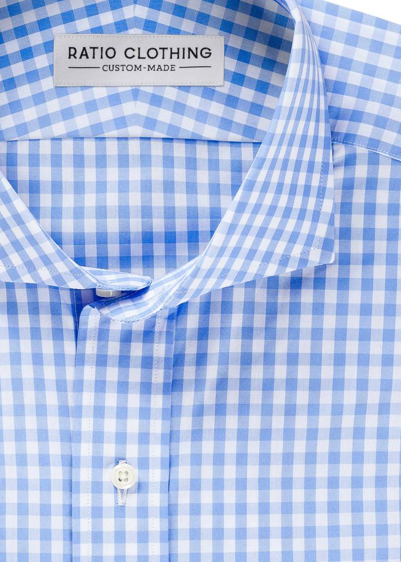 Light Blue Medium Gingham