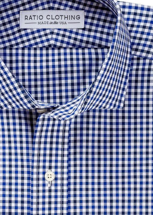 Image for Navy and Blue Mini-Gingham