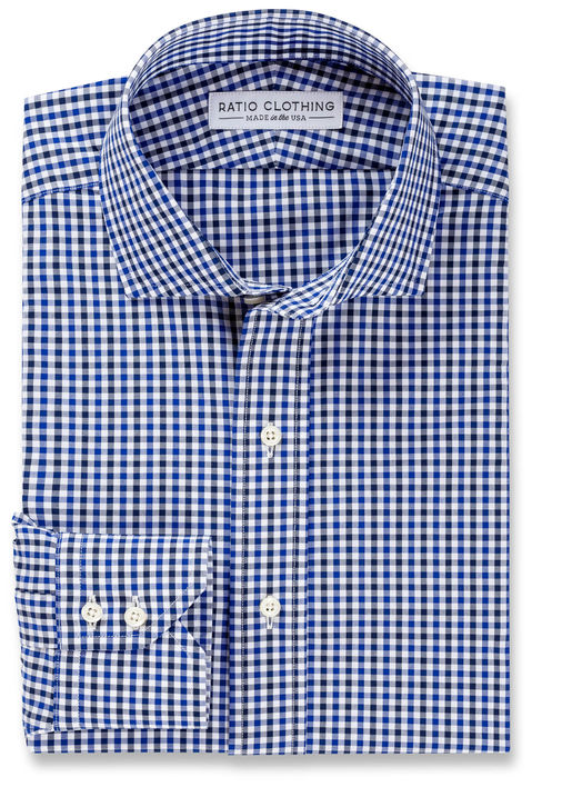 Navy and Blue Mini-Gingham Product Image 3