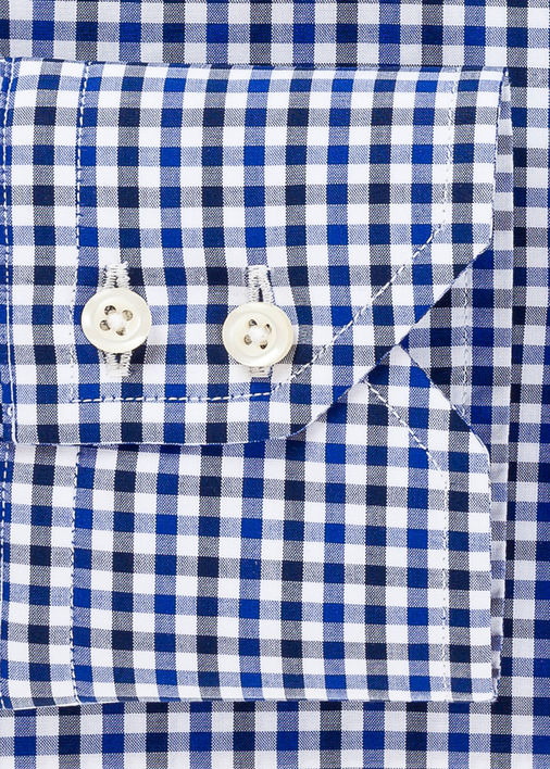 Navy and Blue Mini-Gingham Product Image 4