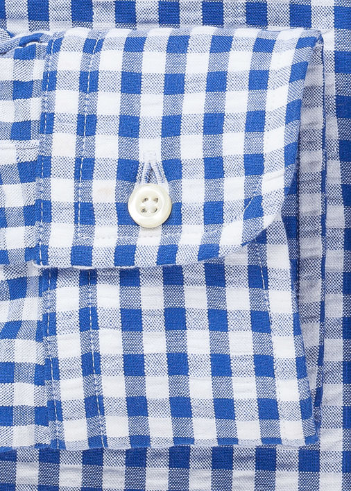 Blue Gingham Seersucker Product Image 3