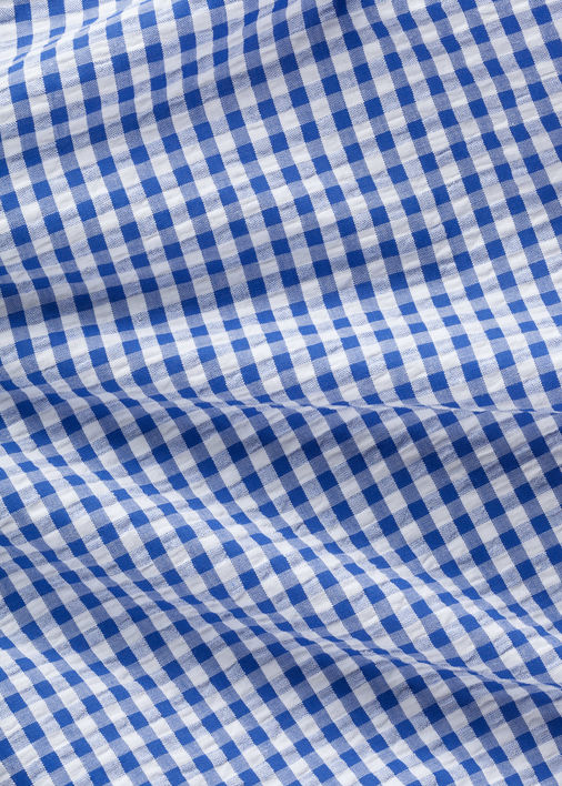 Blue Gingham Seersucker Product Image 4