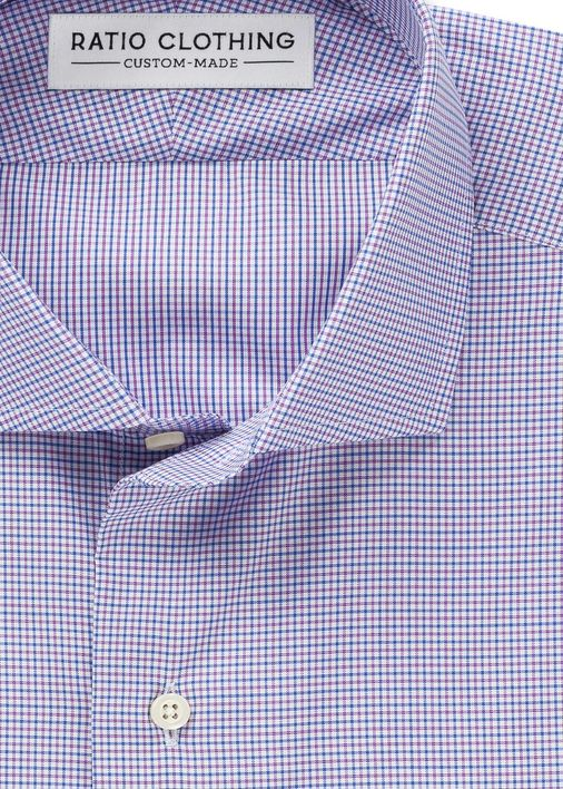 Image for Blue and Purple Fine Twill Check
