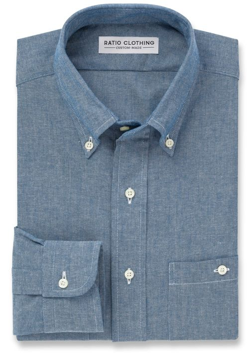 Blue Selvedge Chambray Utility Product Image 2