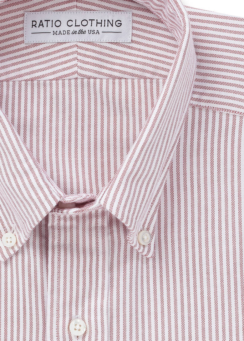 Red Candy Stripe Oxford