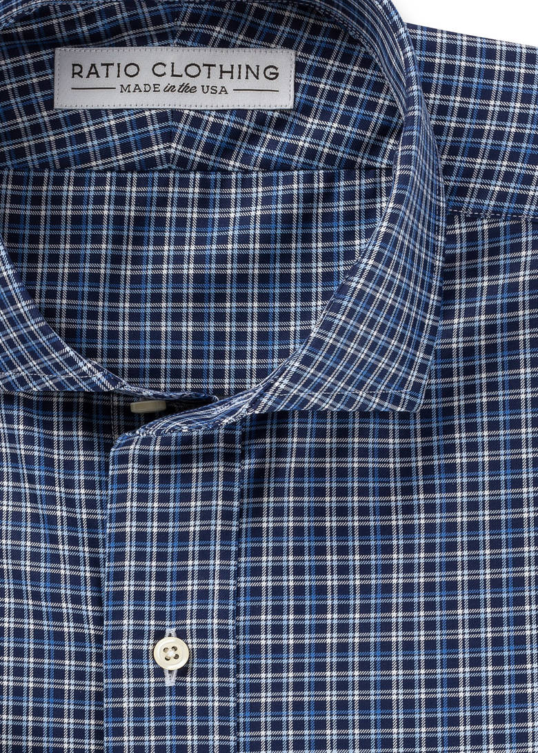 Dark Blue Collins Check Product Image 2