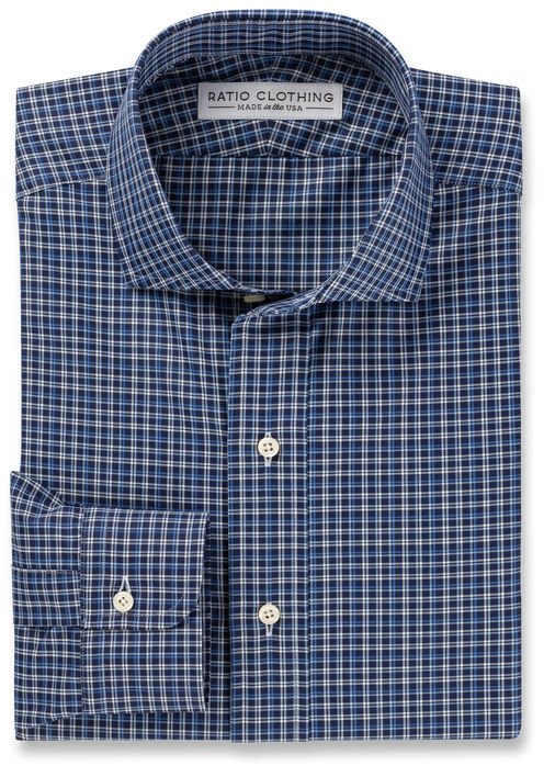 Dark Blue Collins Check Product Image 3