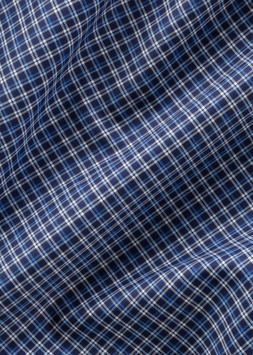 Dark Blue Collins Check Product Image 5