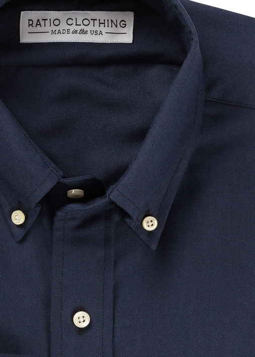Navy Monochrome Oxford