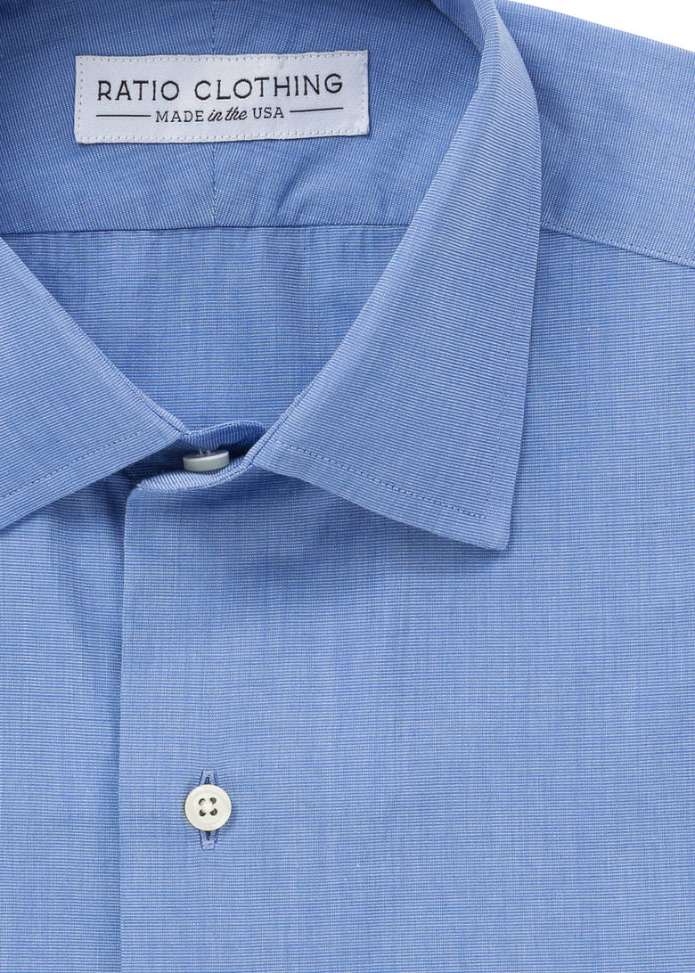 Blue End-On-End Broadcloth